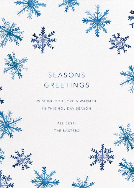 Flake Fall - Linda and Harriett - Holiday cards