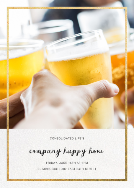 Idylle (Photo) - Gold - Paperless Post - Happy hour