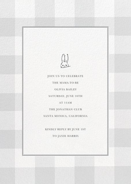Buffalo Check Bunny - Gray - Sugar Paper - Baby shower