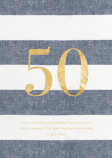 Chambray Stripe - Fifty - Sugar Paper - Adult birthday