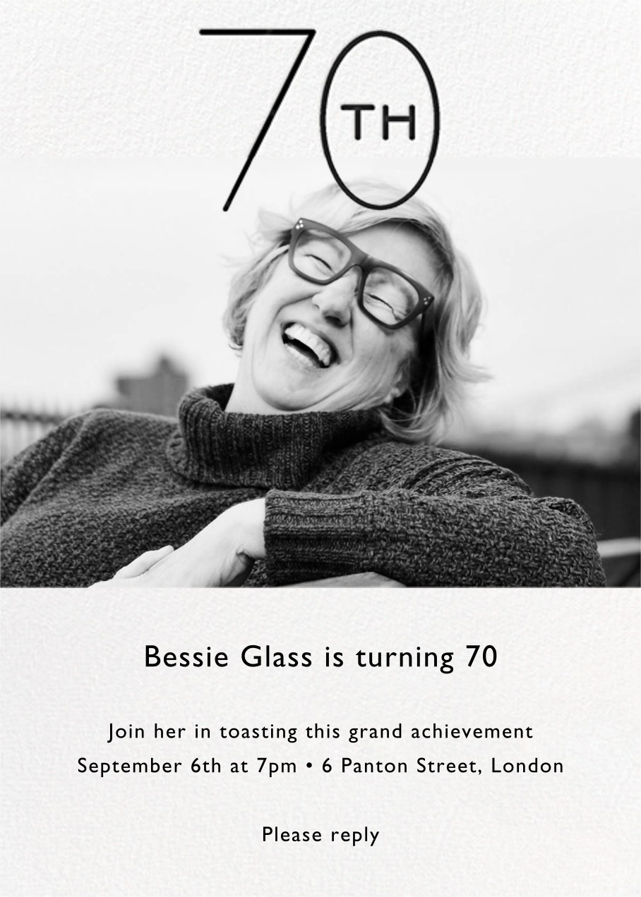 Decade Photo (Seventy) - Black - Paperless Post - Adult birthday