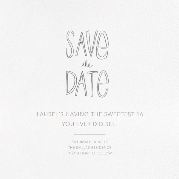 Save the Date Handwriting - Linda and Harriett - Birthday save the dates