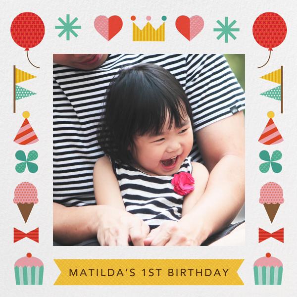 Birthday Treats - Petit Collage - 1st birthday