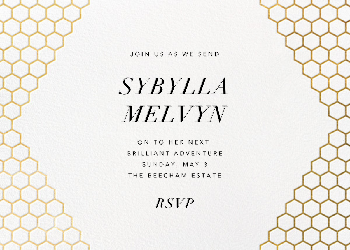 Honeycomb Party - Gold - Paperless Post - Farewell party