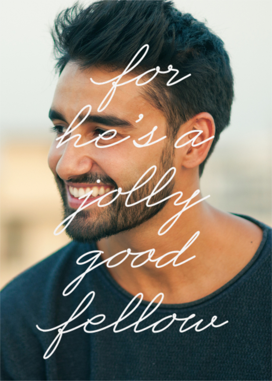 Jolly Good Photo (Him) - Paperless Post - Milestone