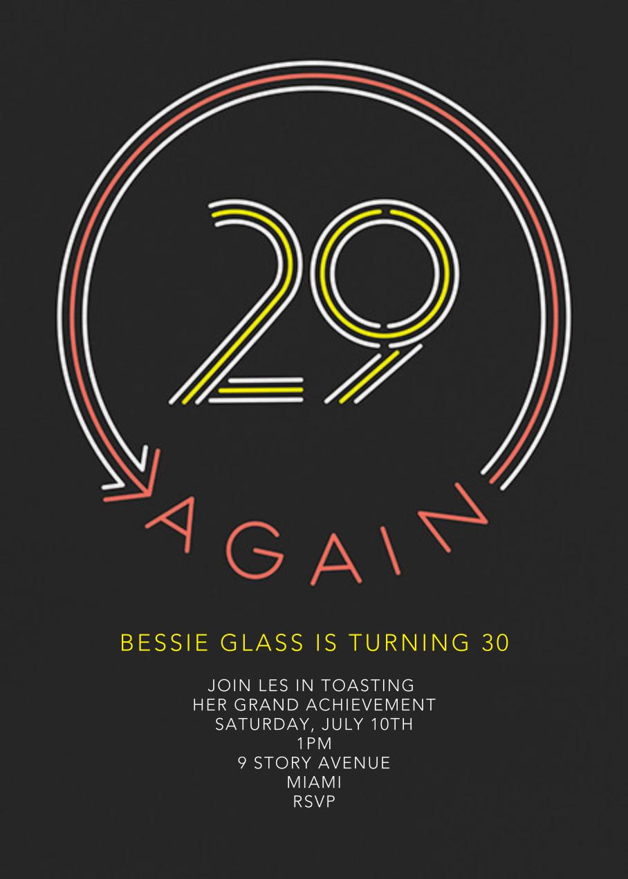 29 Again - Paperless Post - Adult birthday