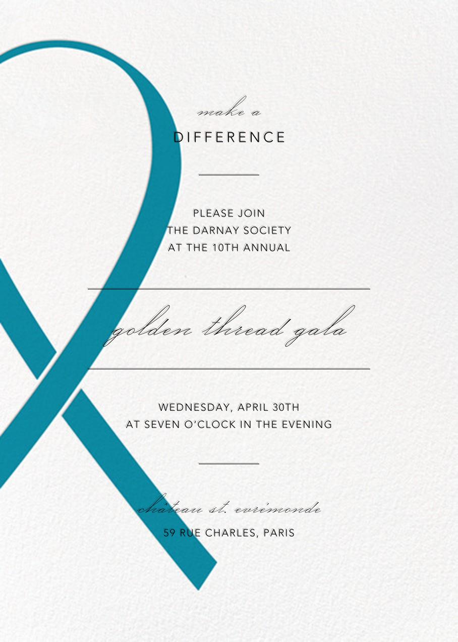 Charity Ribbon - Blue - Paperless Post