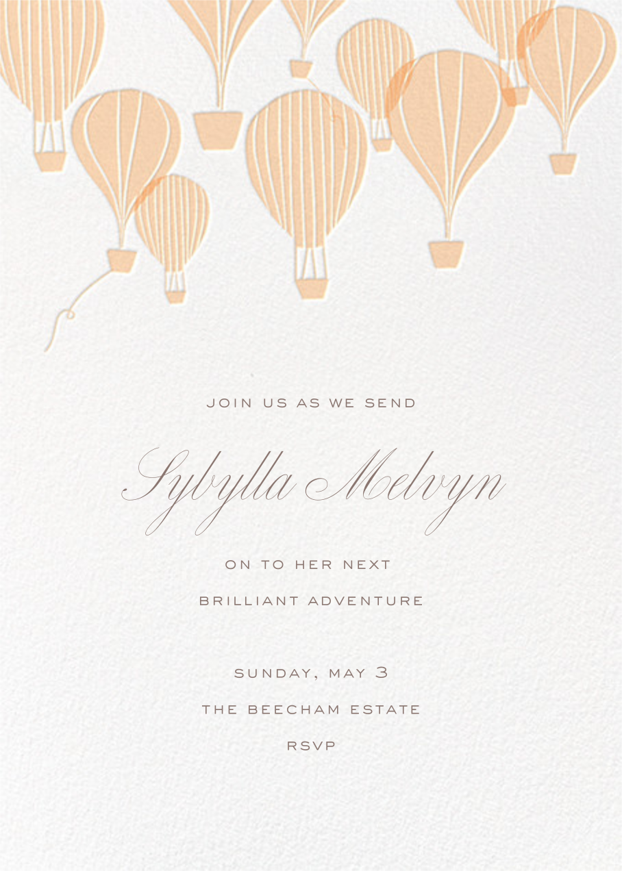 Hot Air Balloon Cluster - White/Bellini - Paperless Post - Retirement party