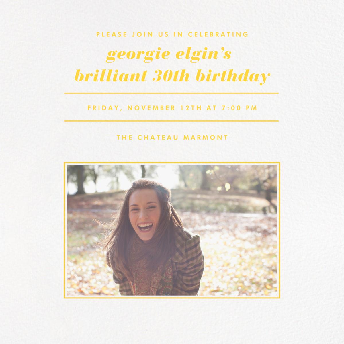 Square Centered - Citrus - Paperless Post - Adult birthday