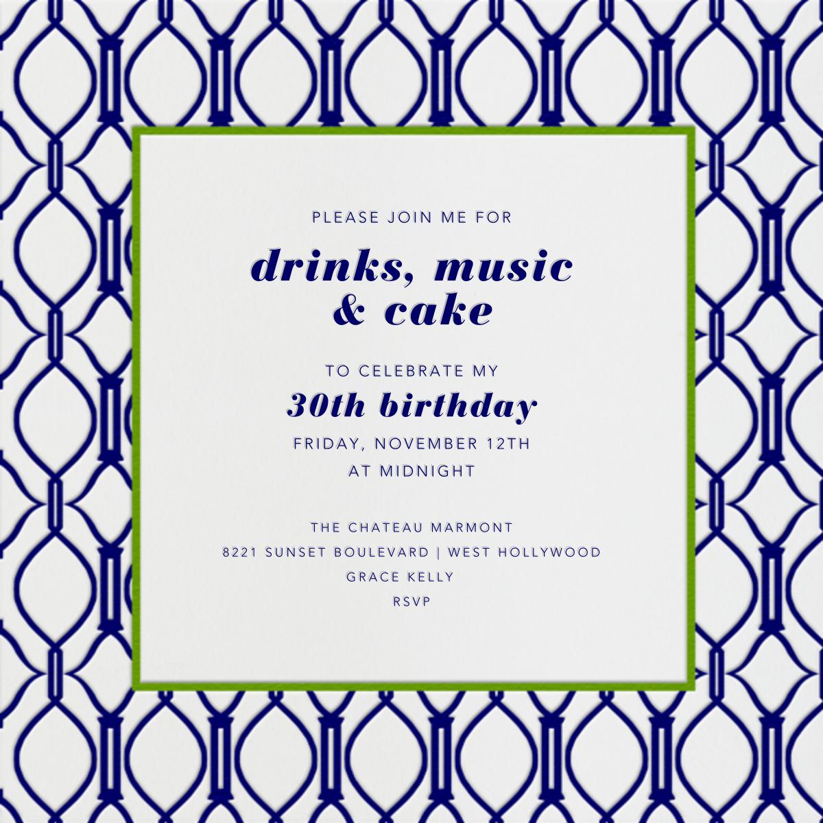 Cadogan Blue Square - Paperless Post - Adult birthday