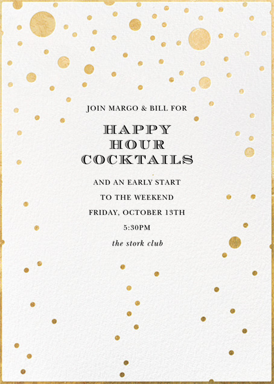 Champagne Bubbles (Single-Sided) - kate spade new york - Happy hour