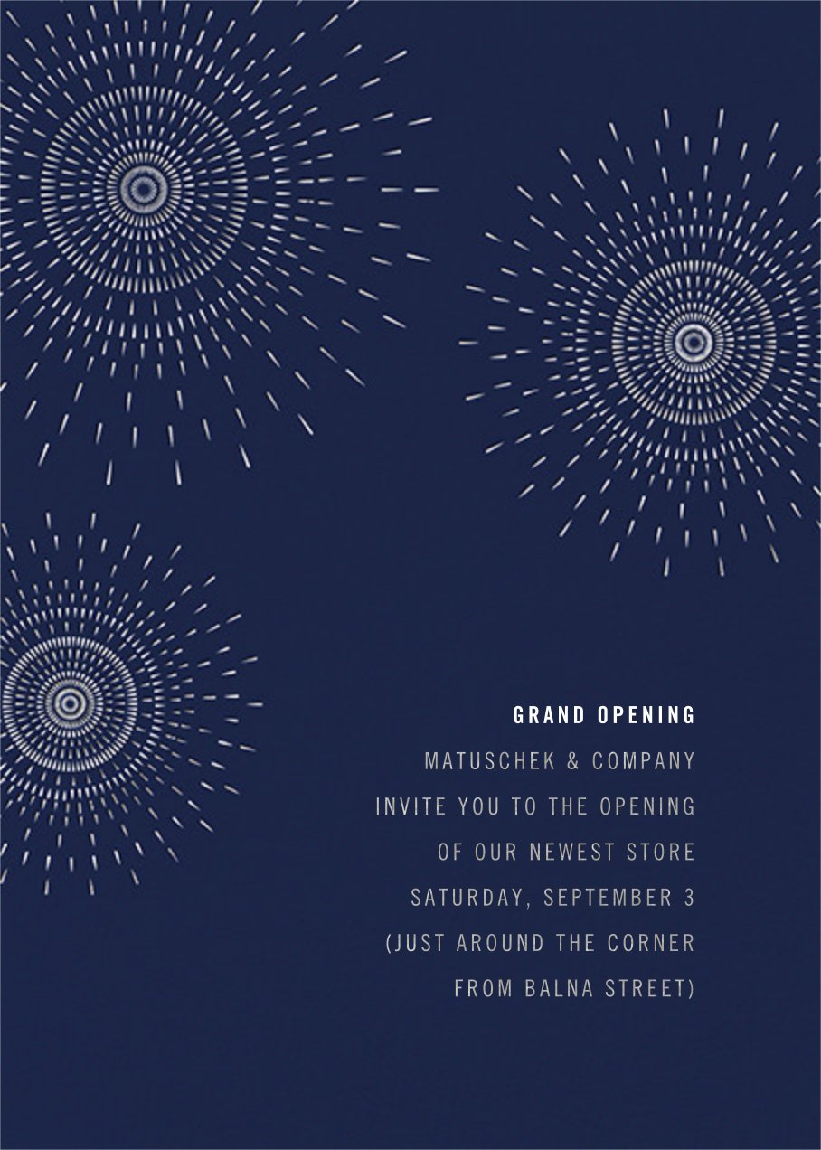 Firework - Navy - Paperless Post - Professional events