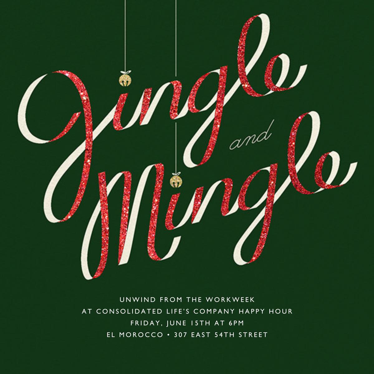 Jingle Bell Mingle - Paperless Post - Happy hour