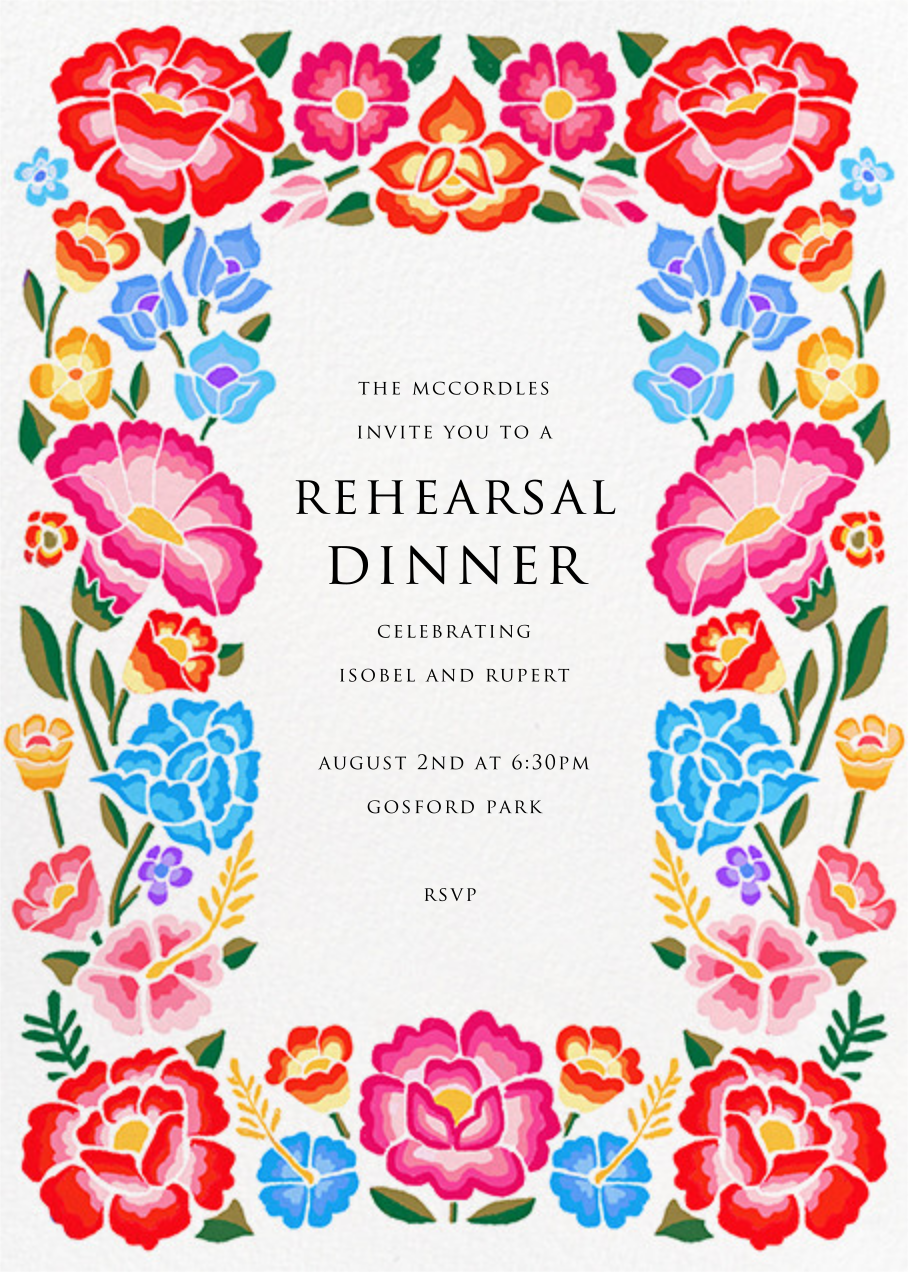 De Colores - Paperless Post - Rehearsal dinner