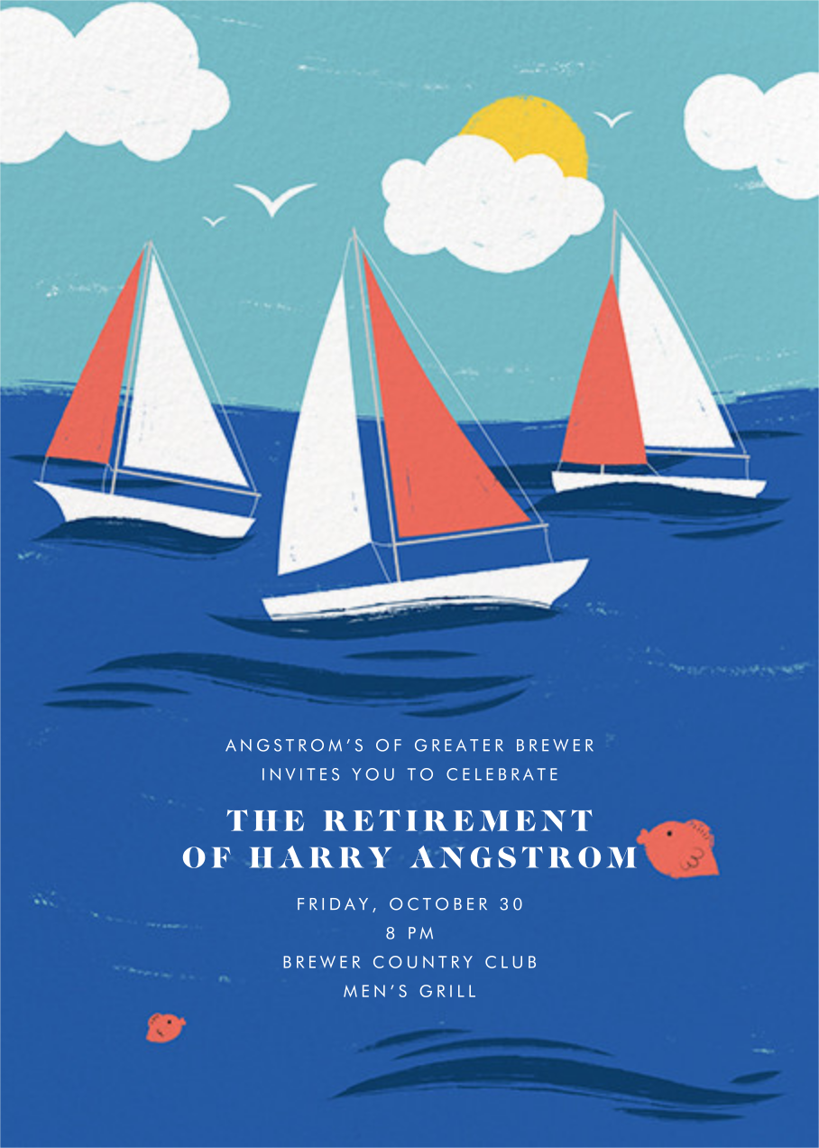 Smooth Sailing - Paperless Post - Retirement party