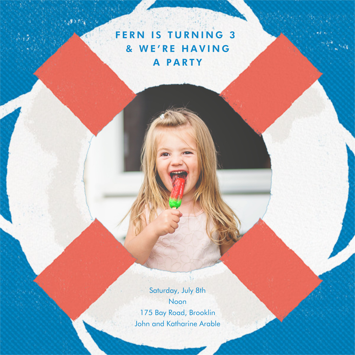 Going Overboard - Paperless Post - Kids' birthday