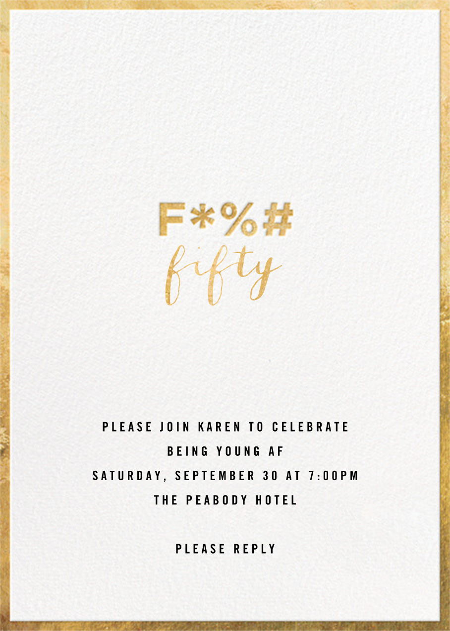 The F Word - Cheree Berry - 50th birthday invitations