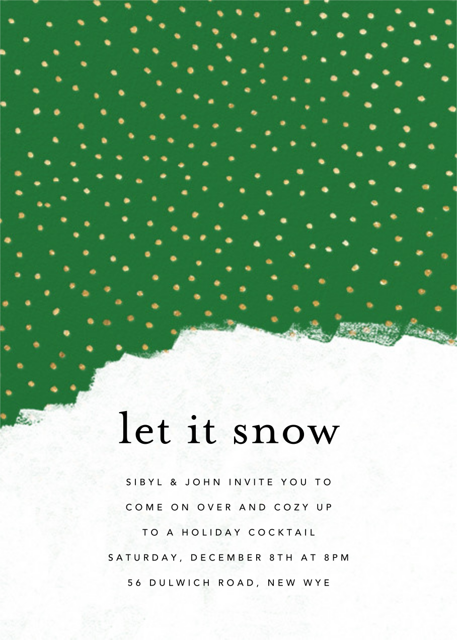 Confetti Snowfall - Green - Ashley G - Holiday party