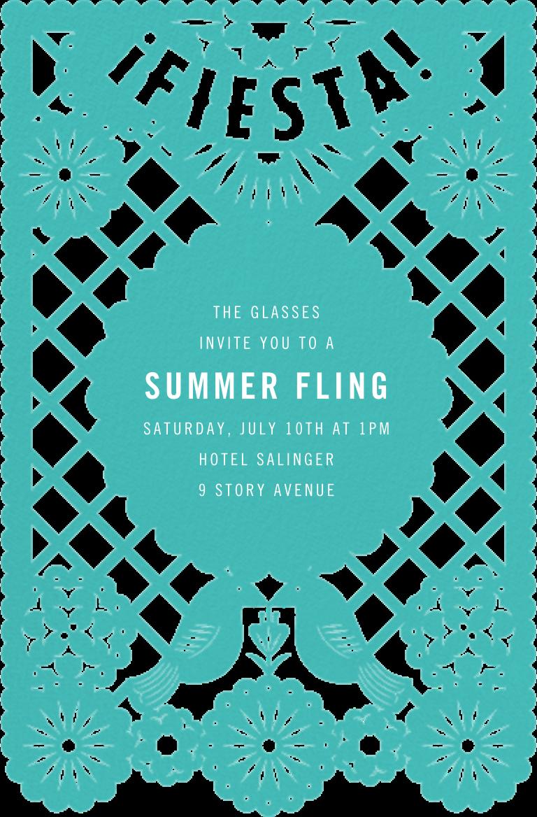 Fiesta Banner - Paperless Post - Summer entertaining