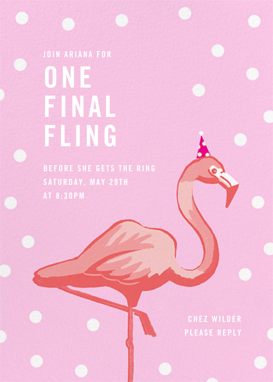 Pink Flamingos - Paperless Post - Bachelorette party