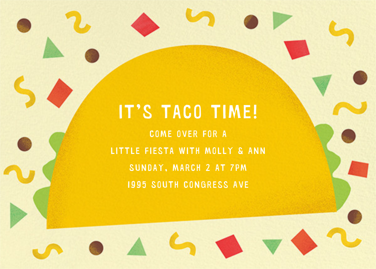 Taco Placeros - Paperless Post - Dinner party