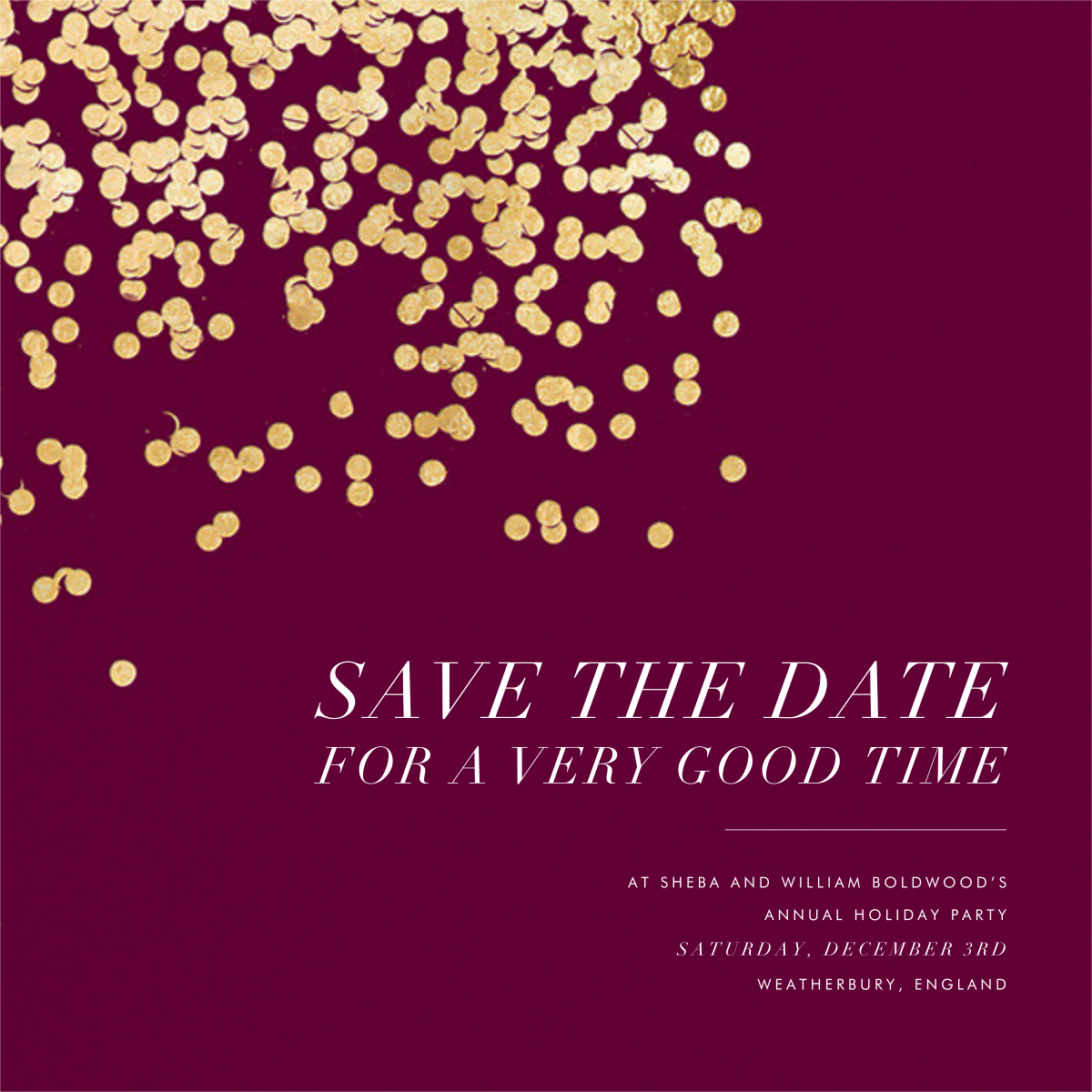 Bijou - Merlot - Kelly Wearstler - Holiday save the dates
