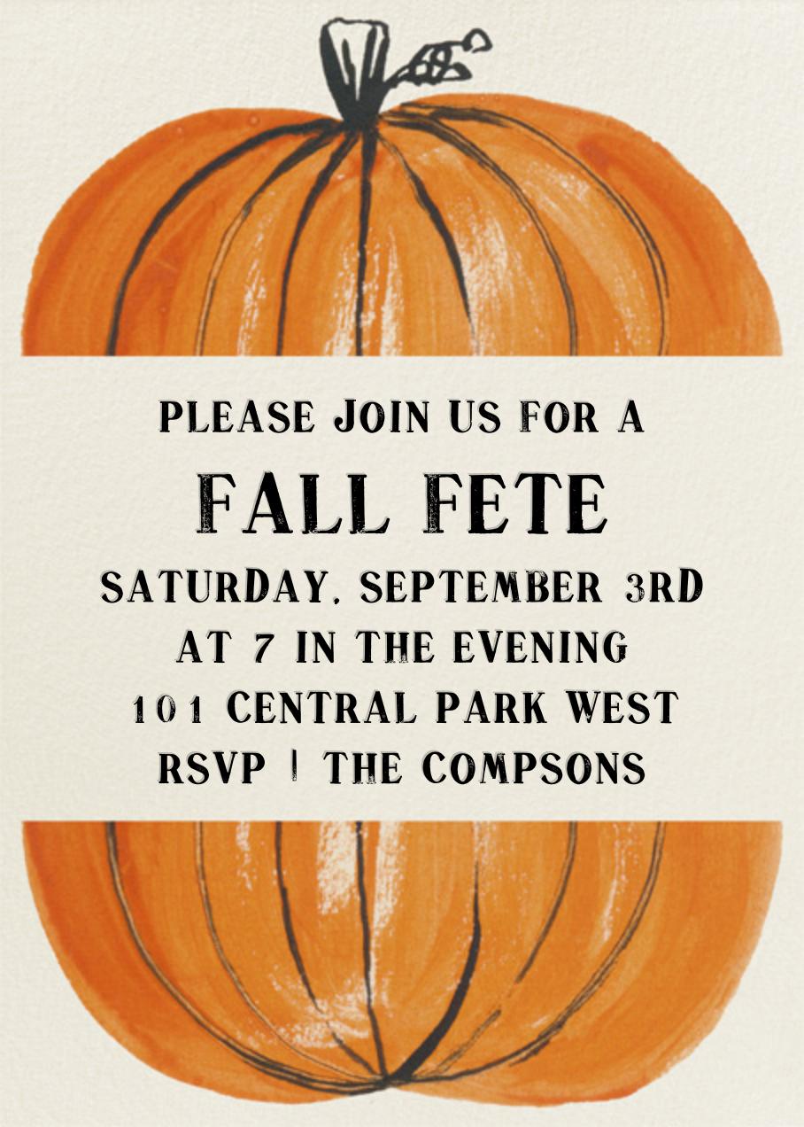 Goblins in a Pumpkin Patch - Paperless Post - Autumn entertaining