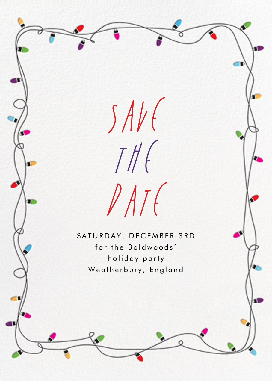 Holiday Lights - Paperless Post - Holiday save the dates