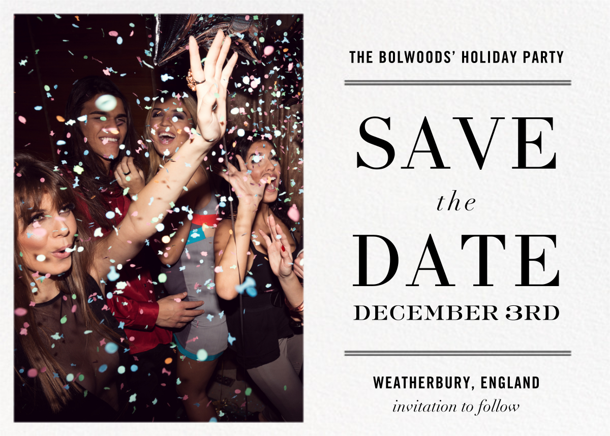 Typographic II (Photo Save the Date) - White - kate spade new york - kate spade new york