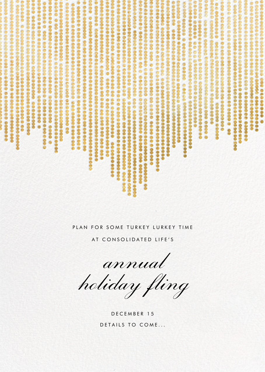 Josephine Baker (Save the Date) - White/Gold - Paperless Post - Gold and metallic