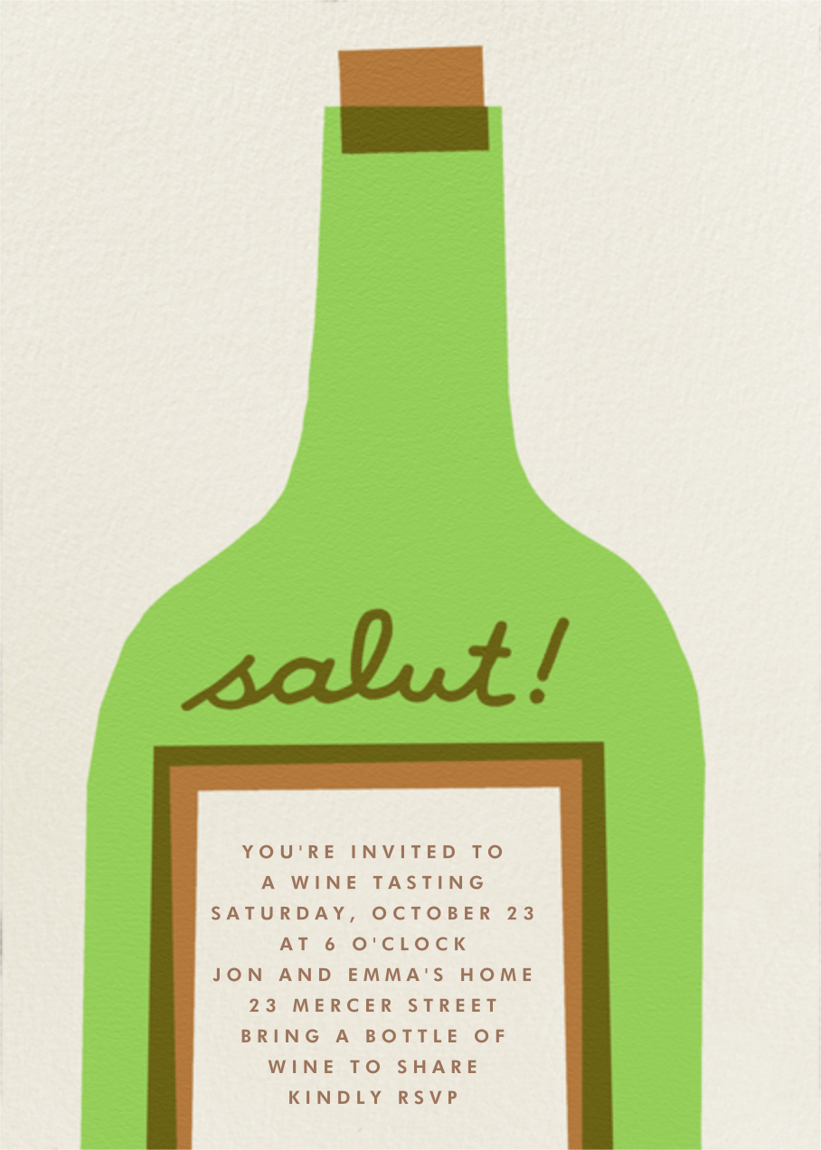 Wine Salut - Green - The Indigo Bunting - Cocktail party