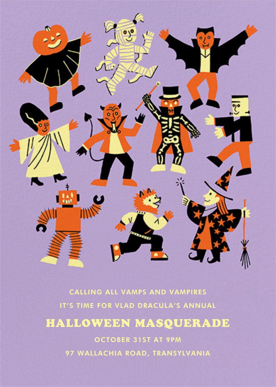 Scary Monsters - Paperless Post - Halloween