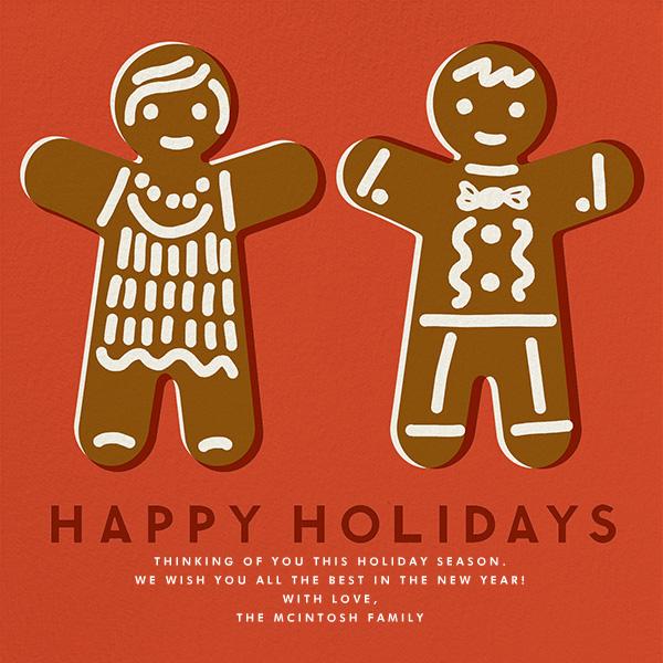 Gingerbread - Happy Holidays (Blood Orange) - The Indigo Bunting
