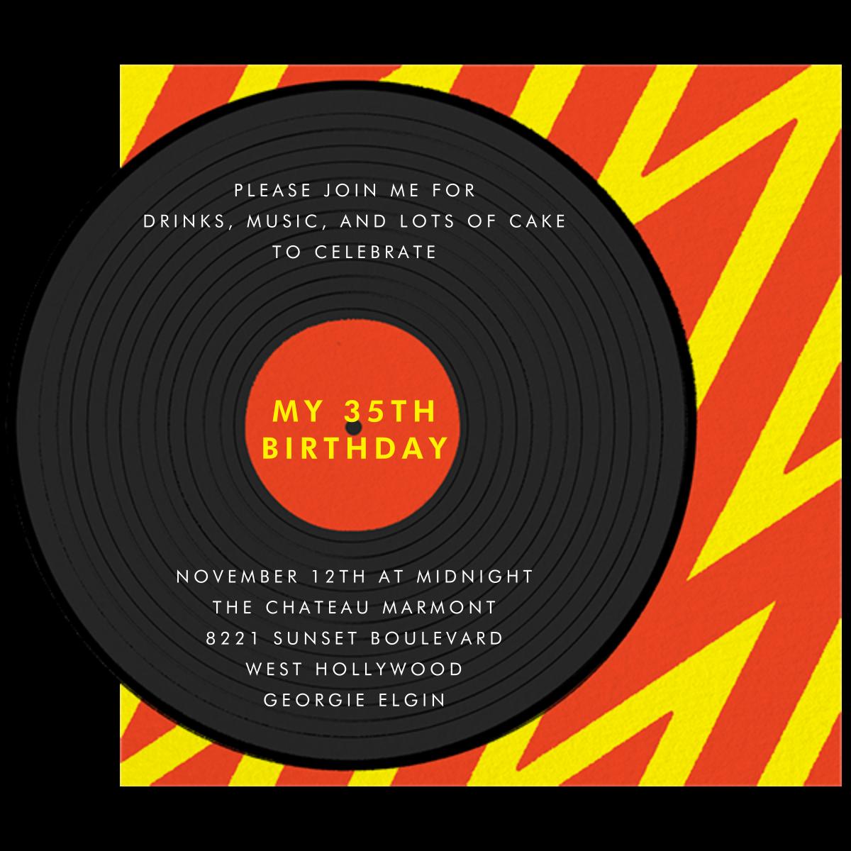 Better on Vinyl - Paperless Post - Adult birthday - card back