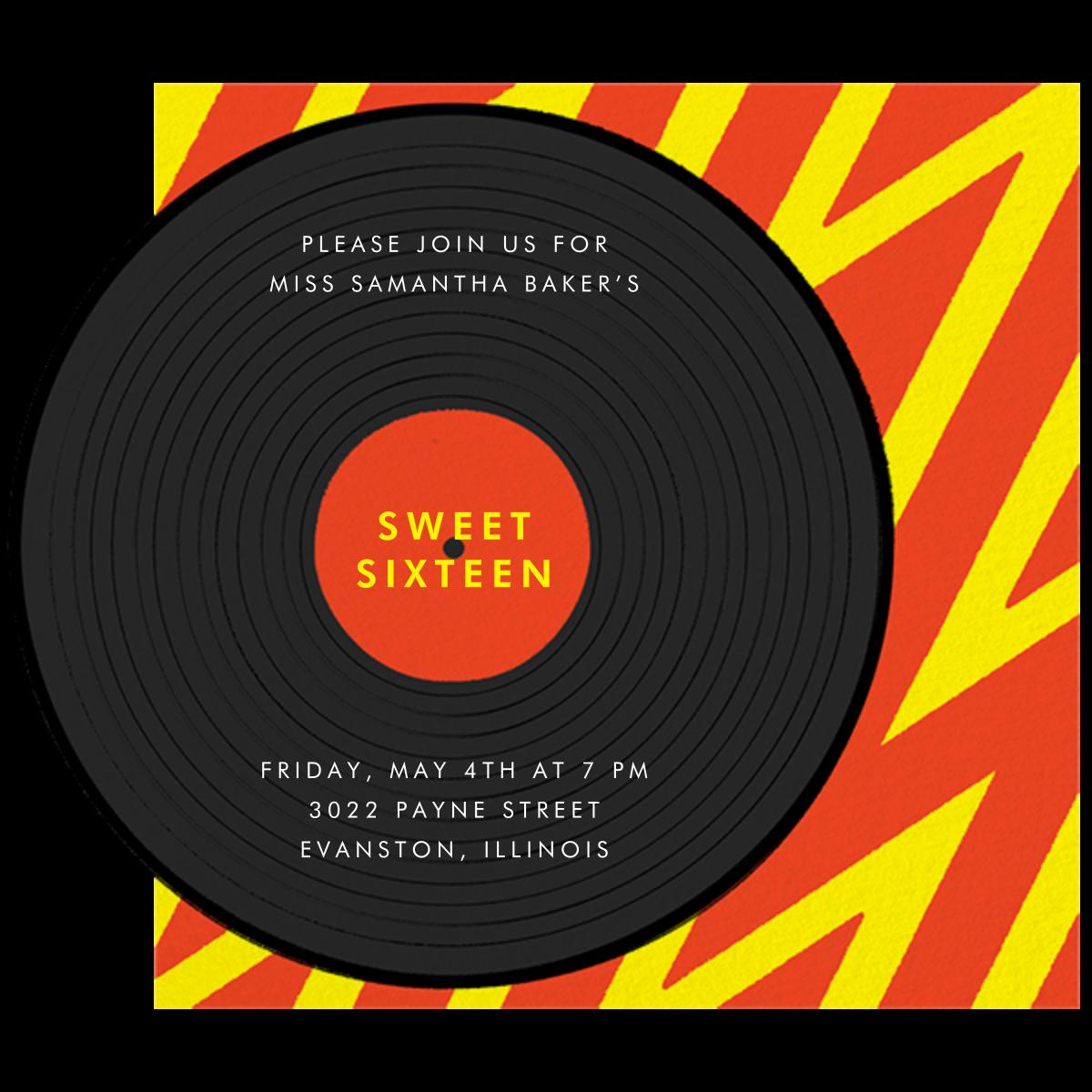 Better on Vinyl - Paperless Post - Birthday - card back