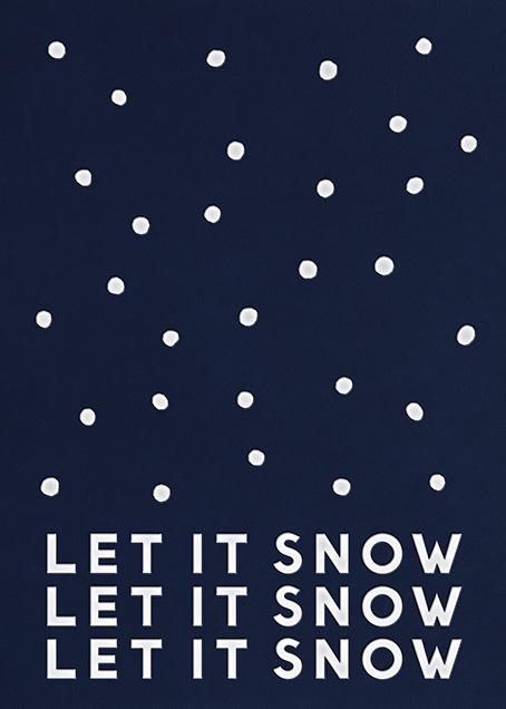 Snowballs - Greeting - The Indigo Bunting - Holiday cards