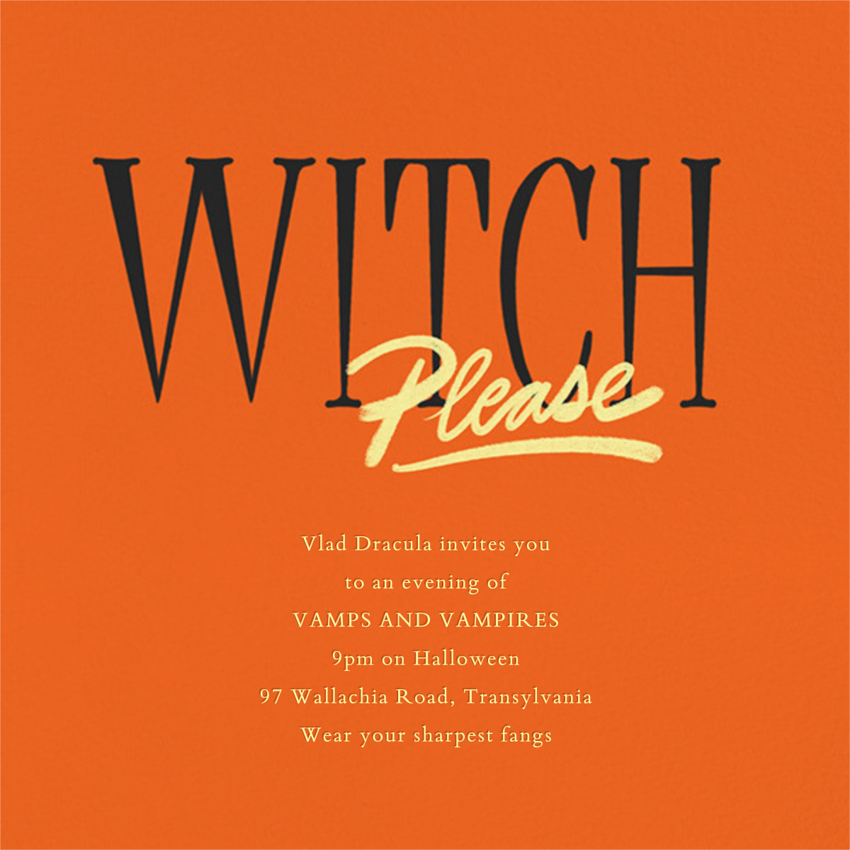 Witch, Please - Paperless Post - Halloween