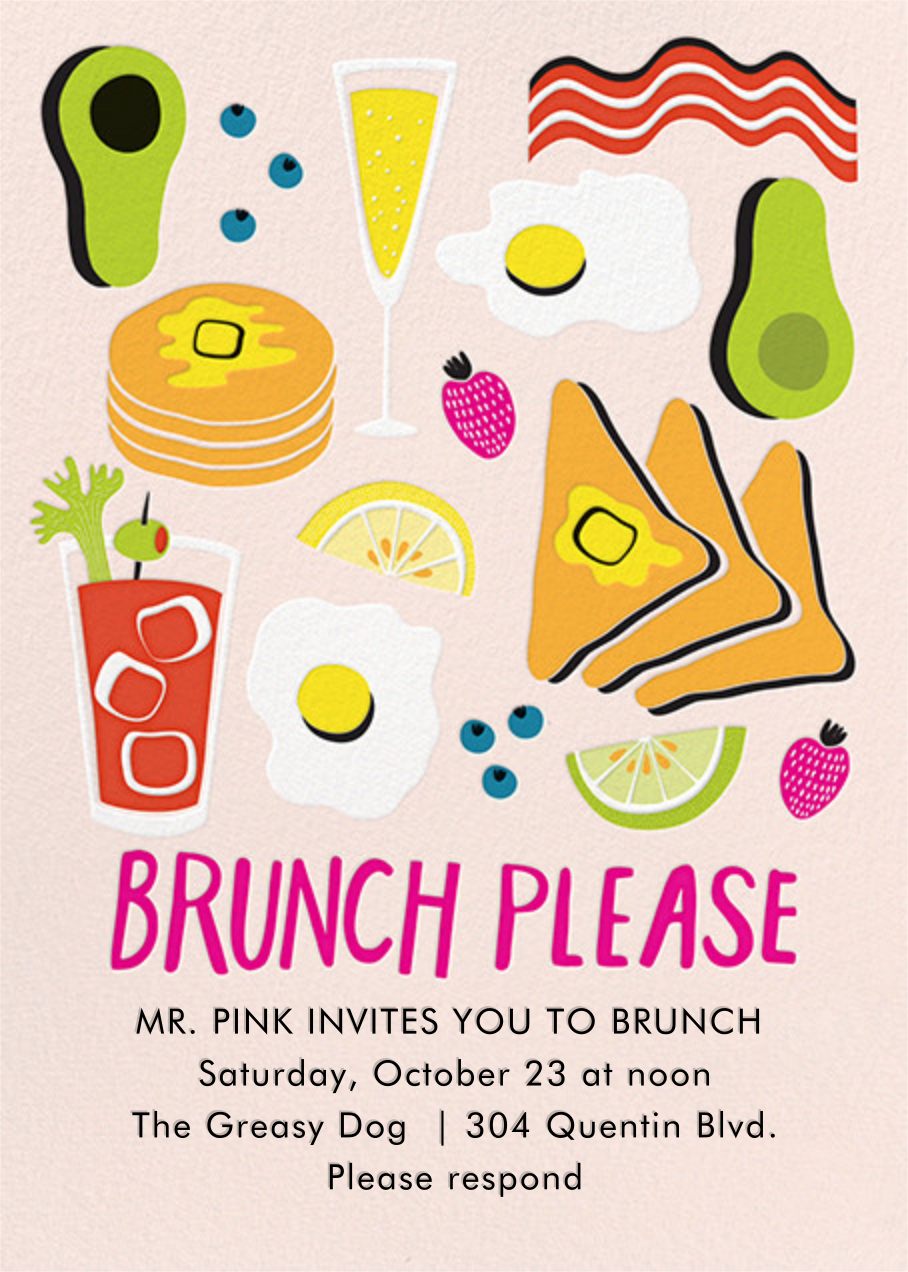 American Brunch - Paper Source - Wedding brunch