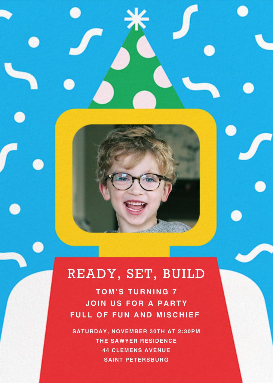 Building Block Party Photo - Paperless Post - Kids' birthday