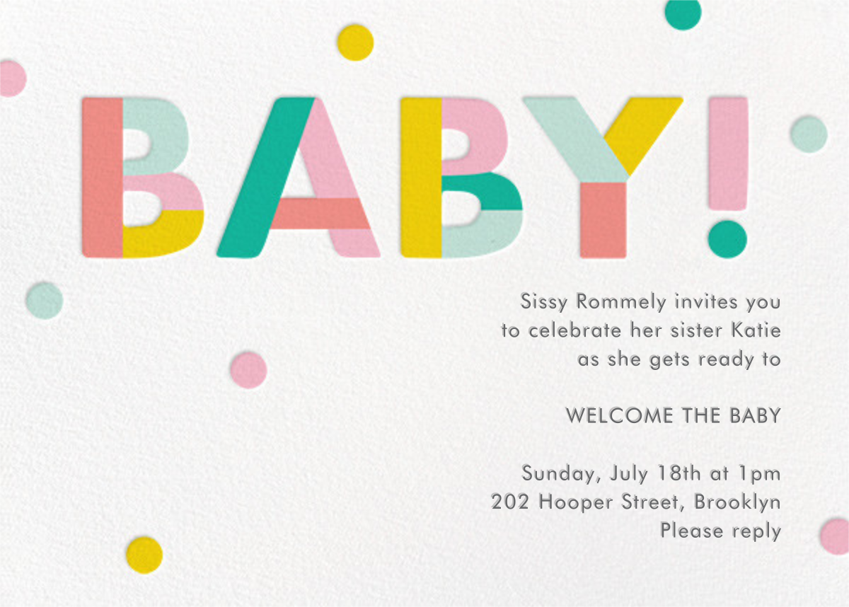 Colorblock Baby - Paper Source - Baby shower