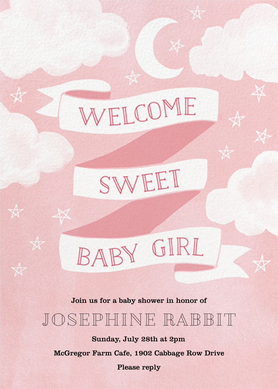 Sweet Baby Girl - Paper Source - Baby shower