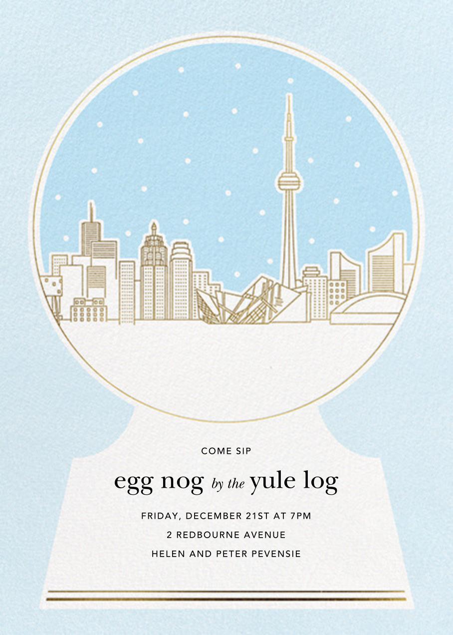 Toronto Skyline Snowglobe - Paperless Post - Winter parties