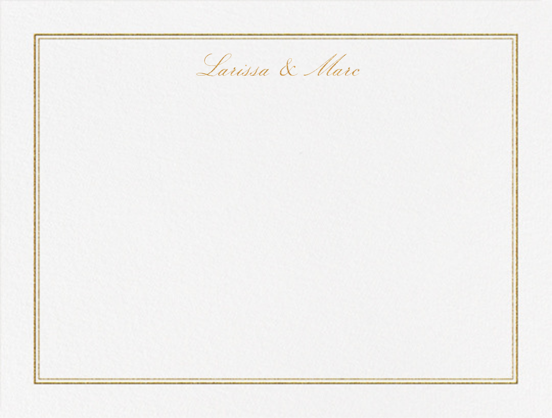 Matte (Stationery) - Gold - Vera Wang - Personalized stationery