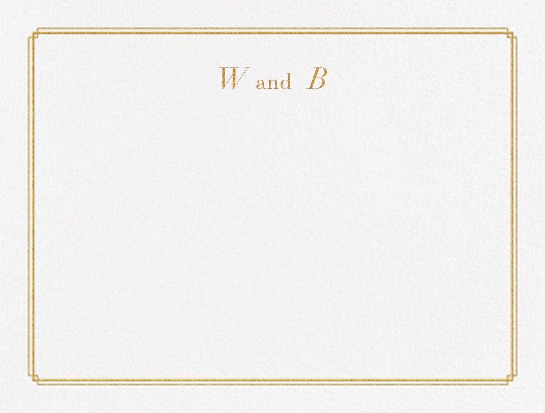 Notch (Stationery) - Gold - Vera Wang - Personalized stationery