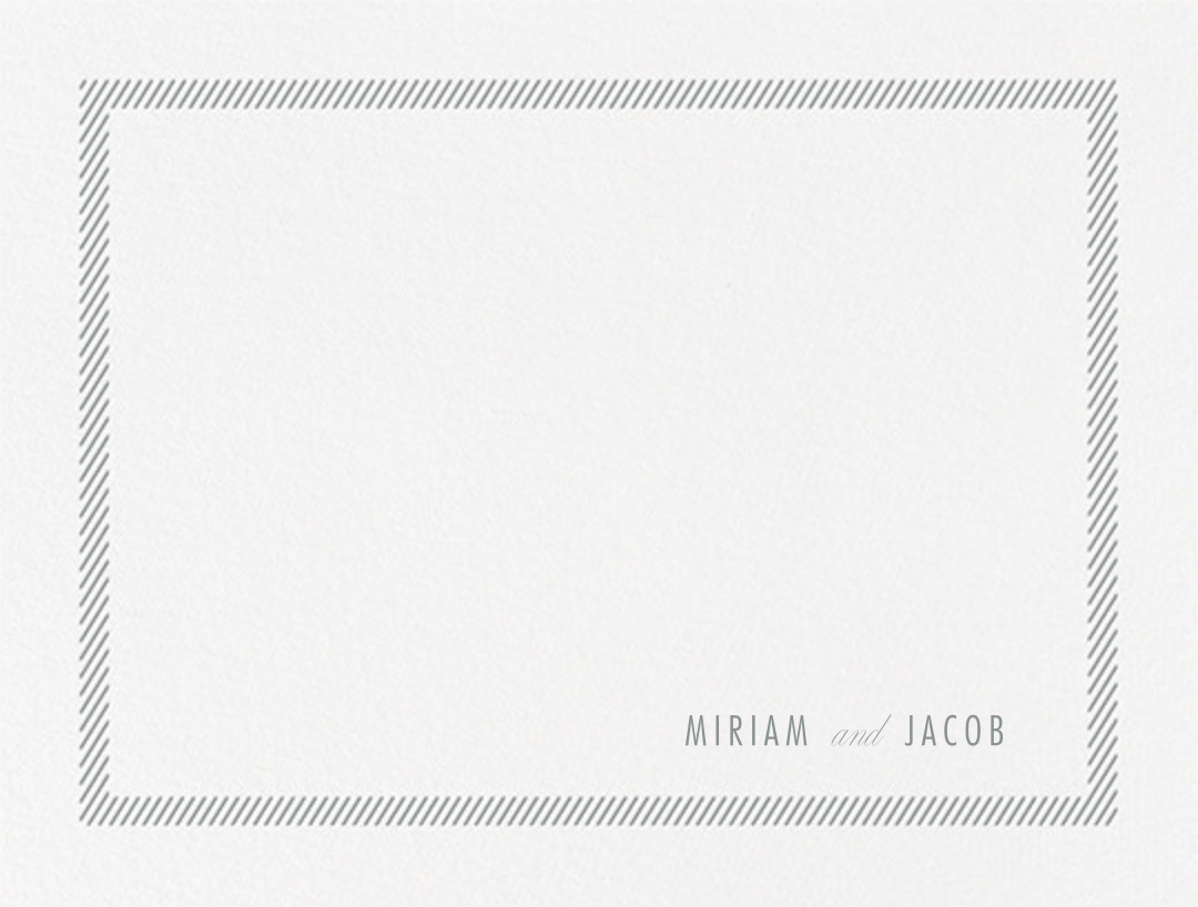 Singer (Stationery) - Pewter Gray - Vera Wang - Personalized stationery