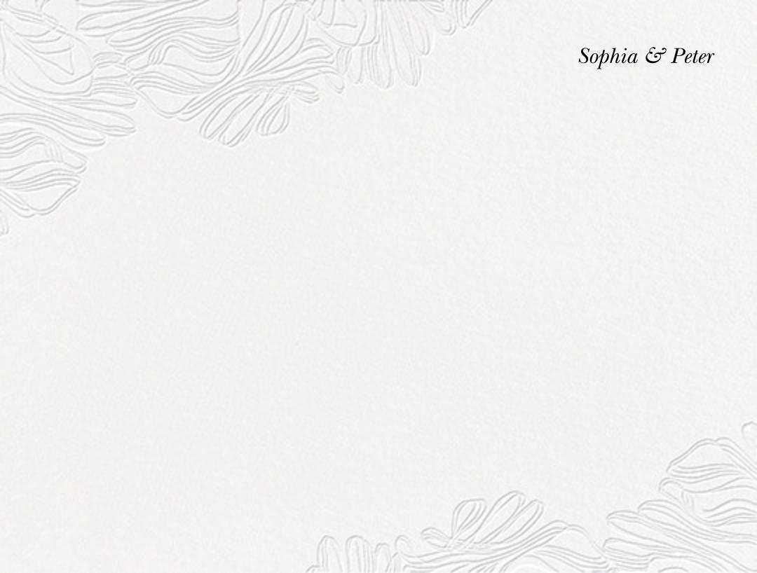 Ruffle (Stationery) - Black - Vera Wang - Personalized stationery