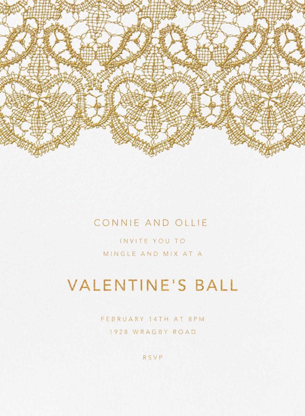 Antique Lace - Medium Gold - Oscar de la Renta - Valentine's Day