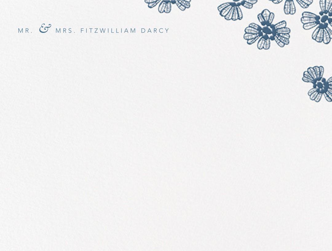 Petals on Lace (Thank You) - French Blue - Oscar de la Renta