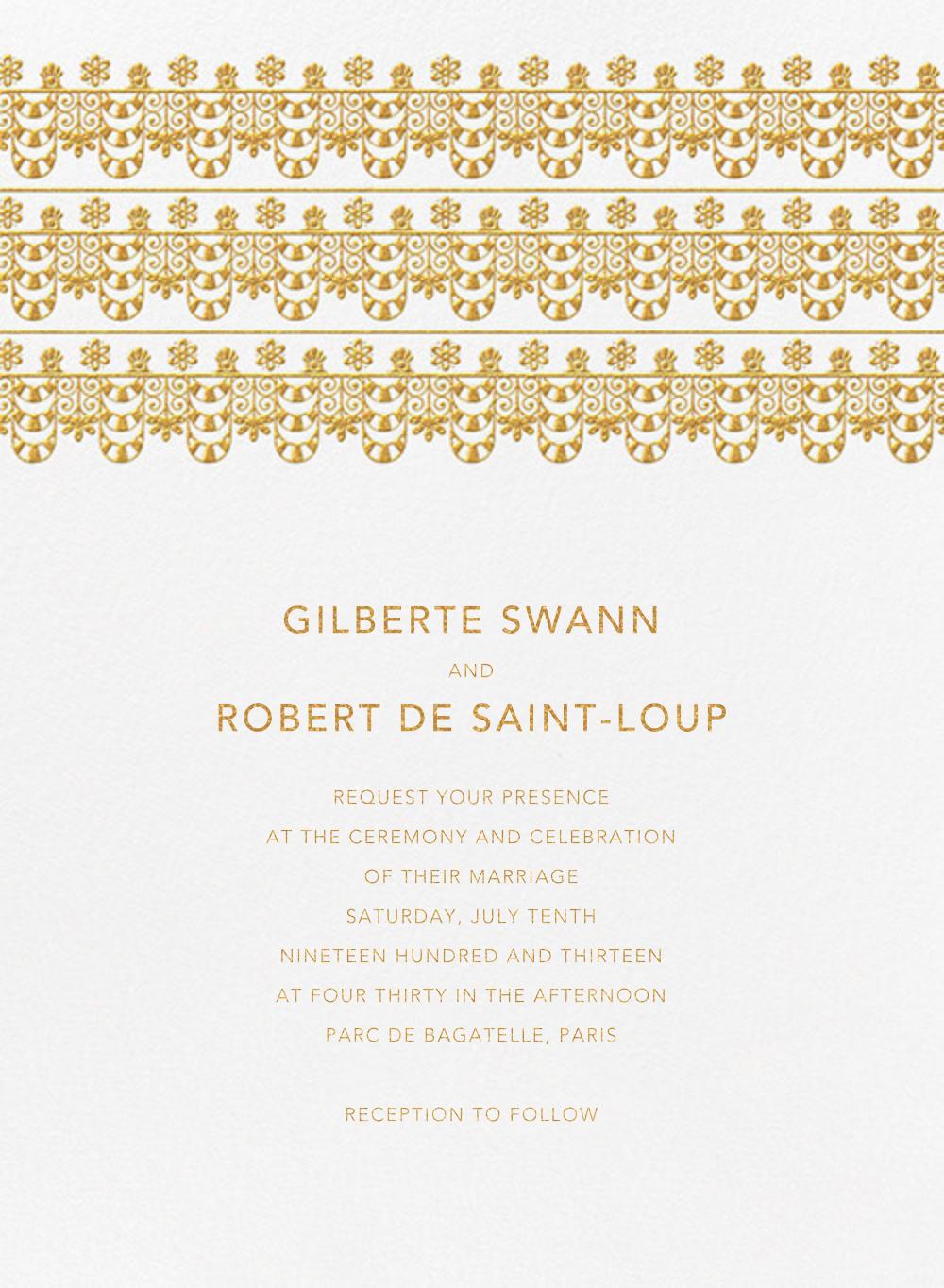 Van Alen Scallop I (Invitation) - Oscar de la Renta