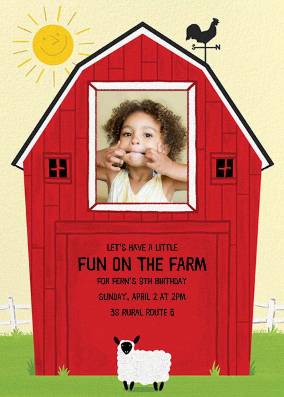 Barn Raising - Sheep - Paperless Post - Kids' birthday